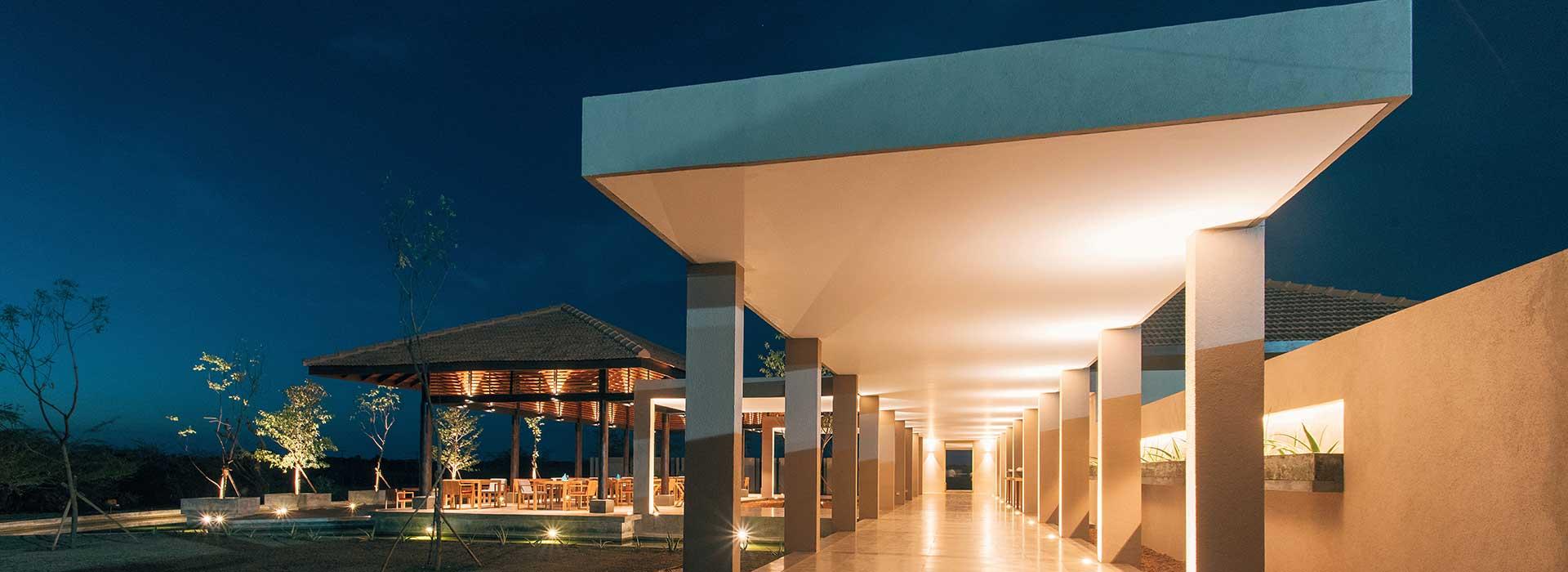 Entrance to Palmyrah House Luxury Boutique Hotel in Mannar Sri Lanka