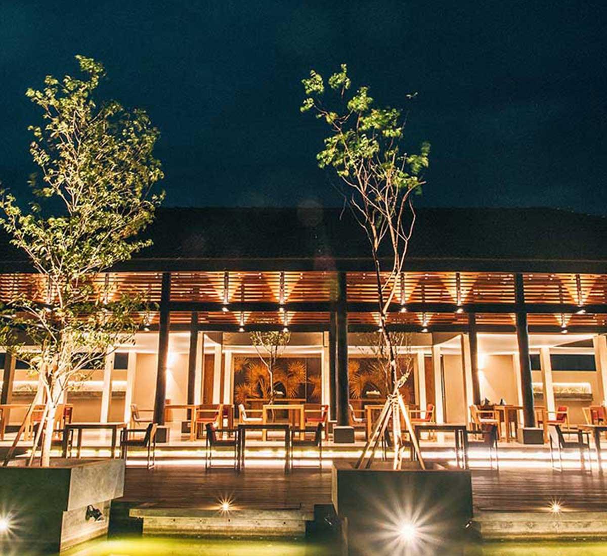 Landscape View of the Restaurant at Palmyrah House Mannar Sri Lanka