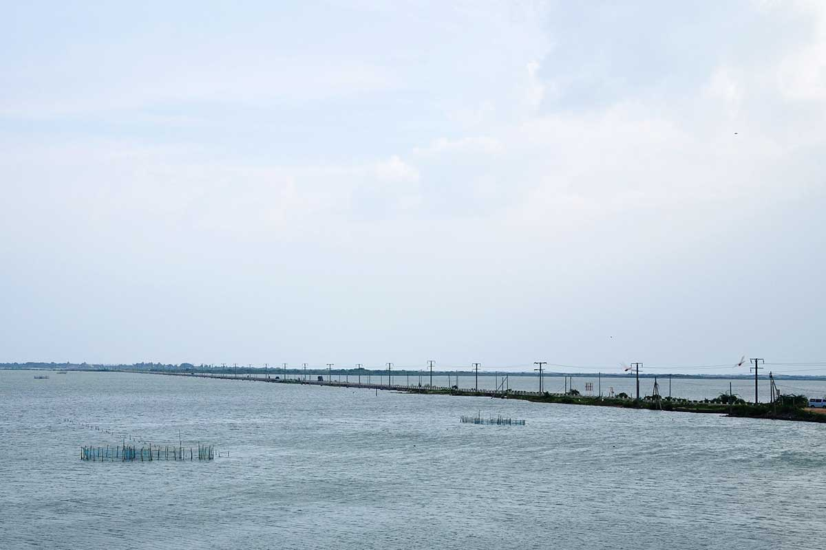Causeway Connecting Mannar Island to Mainland near Palmyrah House