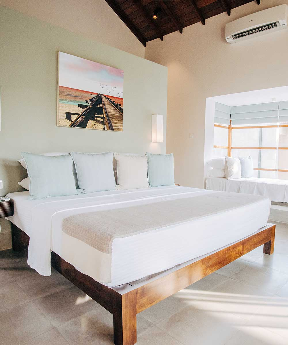 King Size Beds of the Double Room at Palmyrah House Mannar